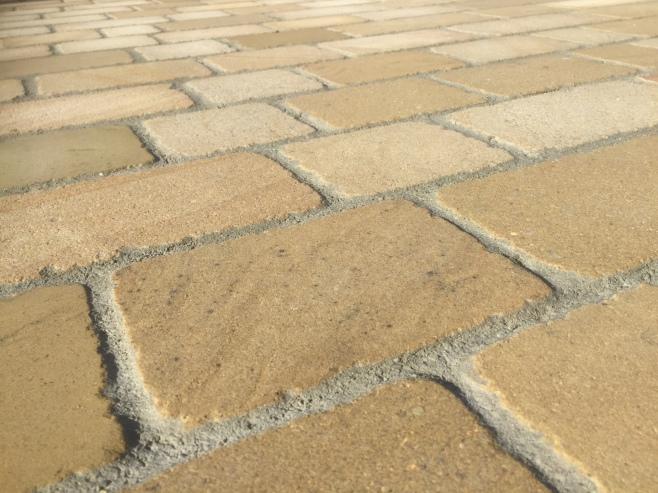 Natural stone driveway or concrete block paving