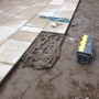 Laying York stone paving