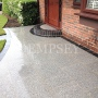 Natural silver granite paving to entrance