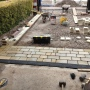 Natural stone setts being laid by Dempsey in Warrington