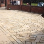 York stone sett driveway in Cheshire ready for pointing
